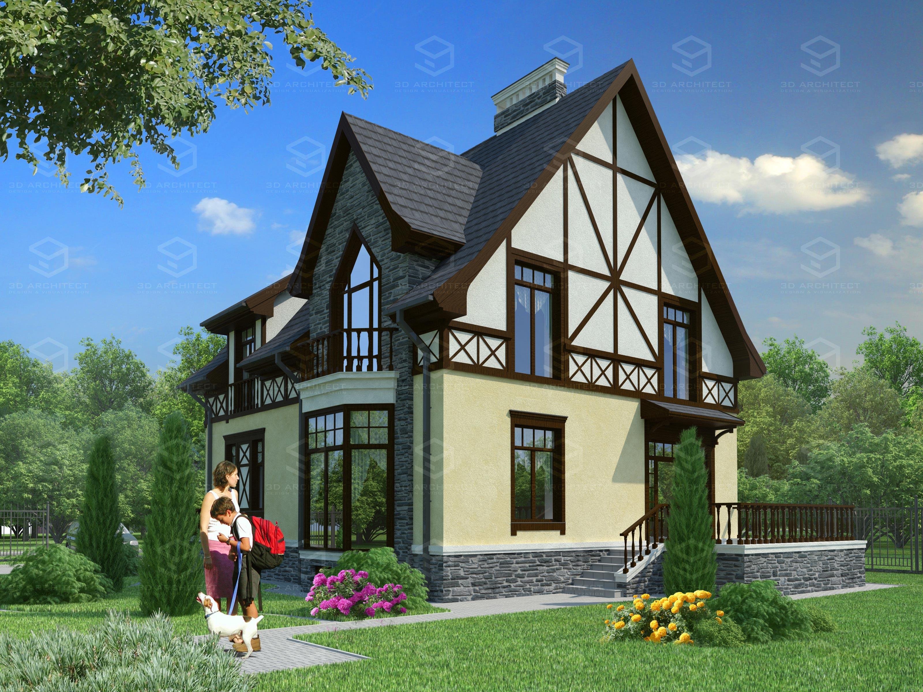 Дом фото 3d проект