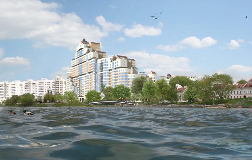 Презентационные материалы для продажи элитной недвижимости в центре Минска, жило